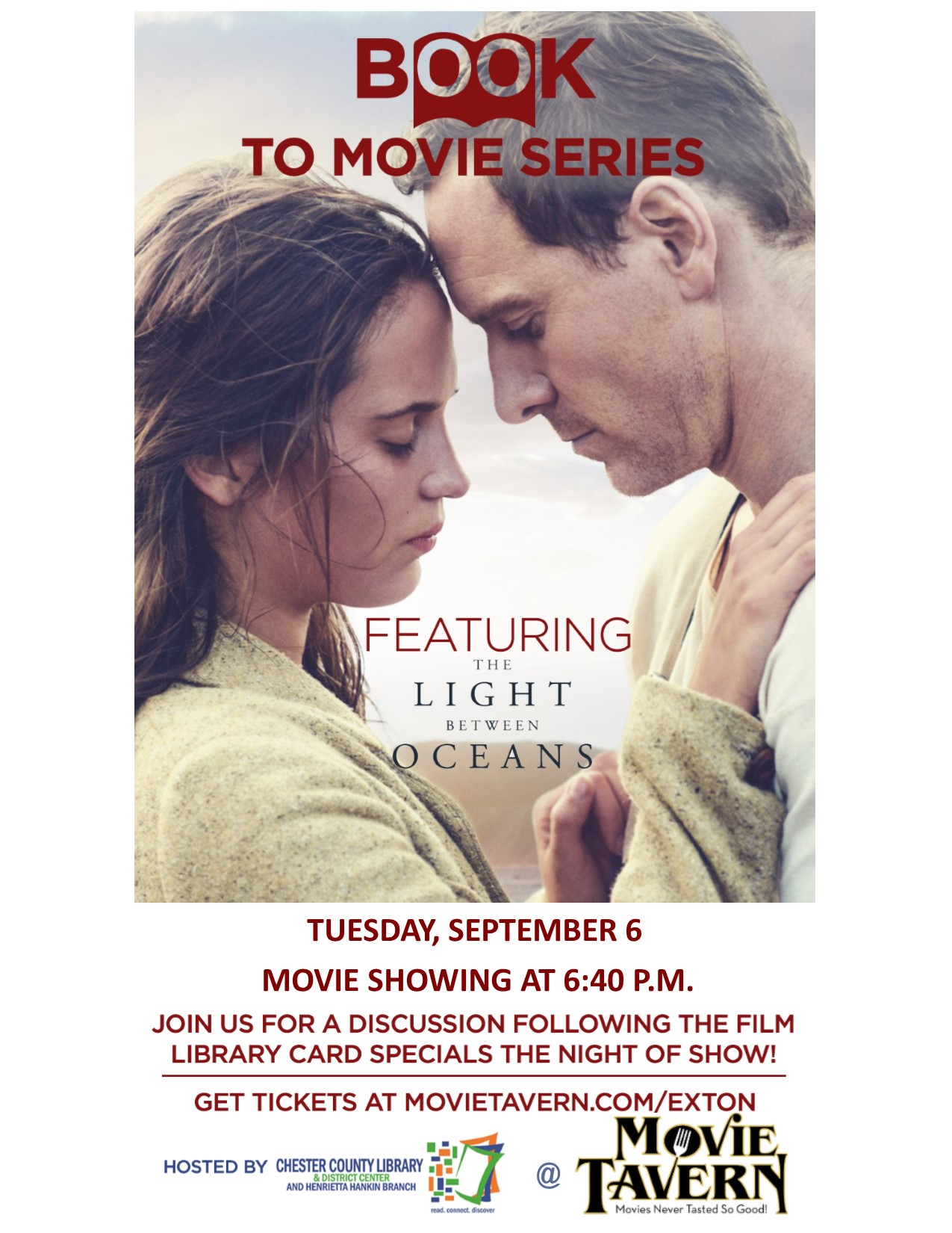 The Light Between Oceans Book To Movie Event Tonight