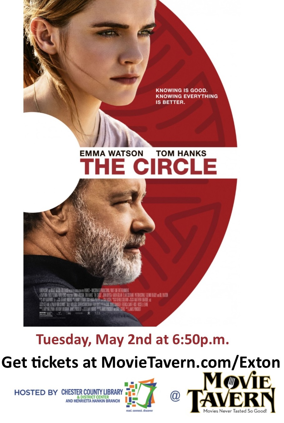 The Circle Book To Movie Event Chester County Library Multimedia Blog